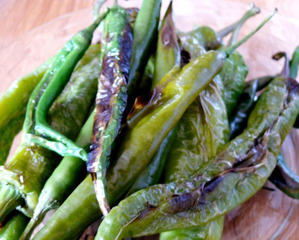 fire-roasted green chilies