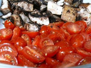 seasoned tomatoes and mushrooms
