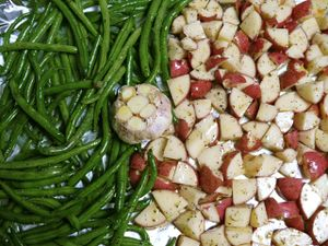 pre-roasted bean, potatoes and garlic