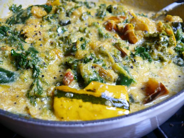 roasted delicata squash curry with kale