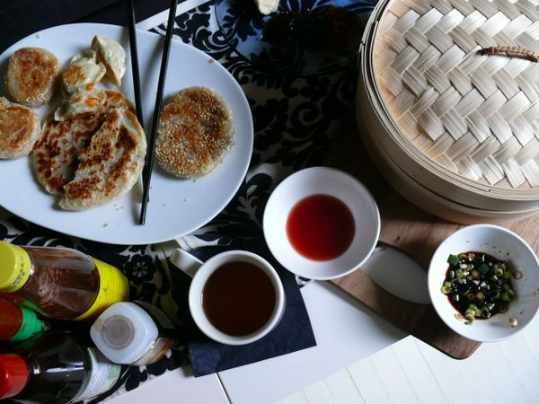 dim sum on the couch