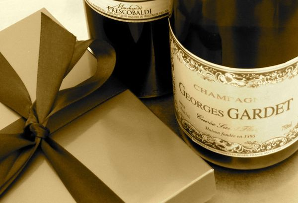 chocolate, wine and champagne