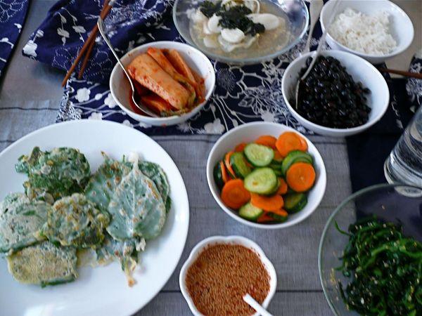 korean feast!