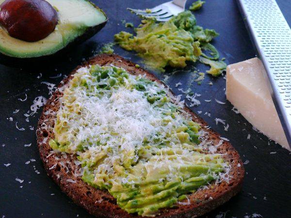avocado parmesan toast