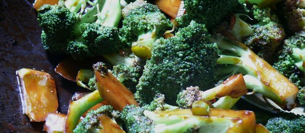 broccoli in sweet sticky sauce