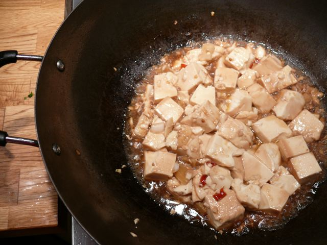 sizzlin' tofu!