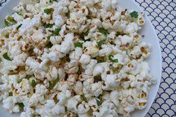 spicy cilantro popcorn