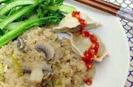 sesame quinoa and dumplings