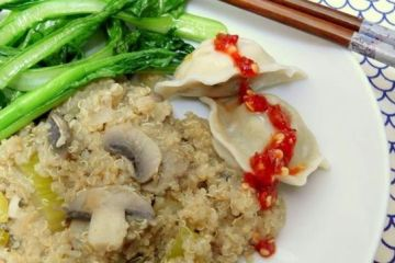 sesame quinoa and dumplings