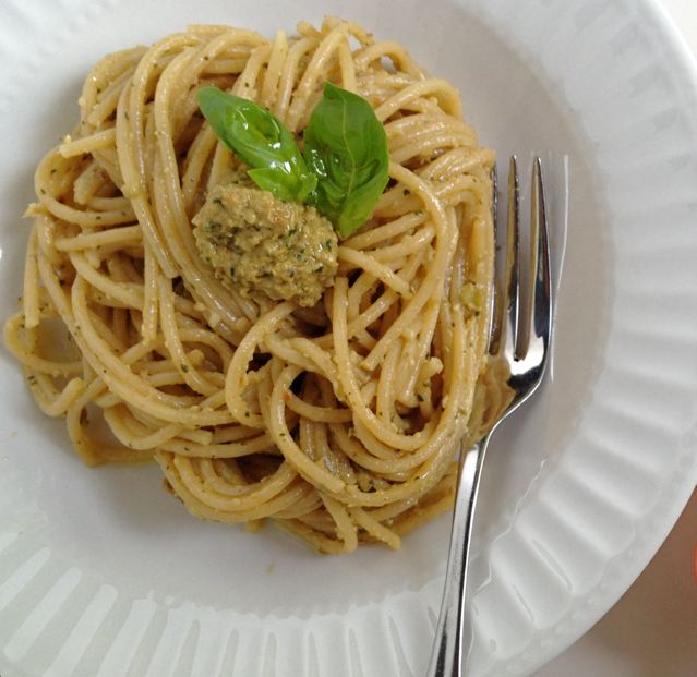 eggplant and walnut pesto