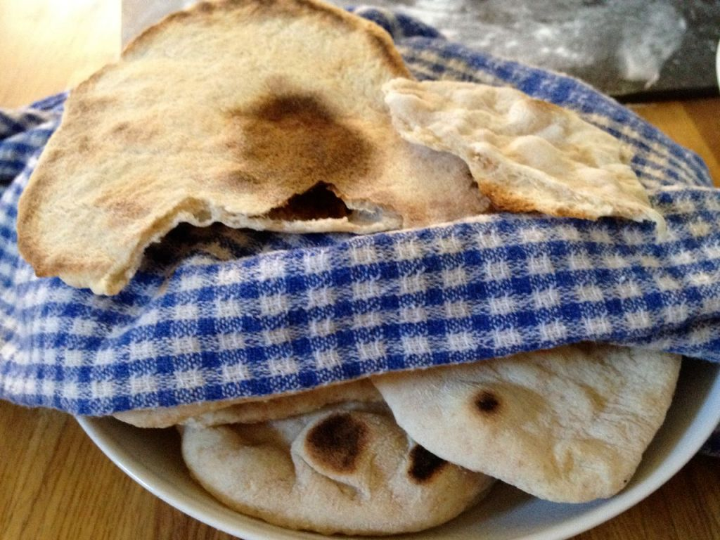 fresh, homemade pita
