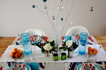 julia elliott's holiday table for le sauce
