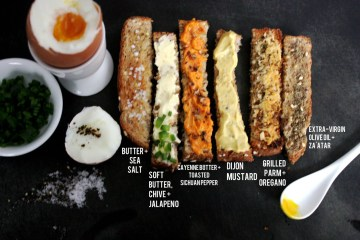 savoury soldiers for soft-boiled eggs