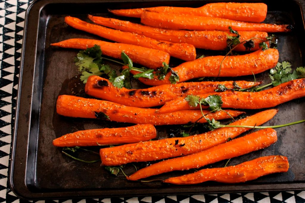 carrots in coriander