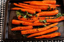 carrots in corriander