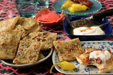fried zaatar squares