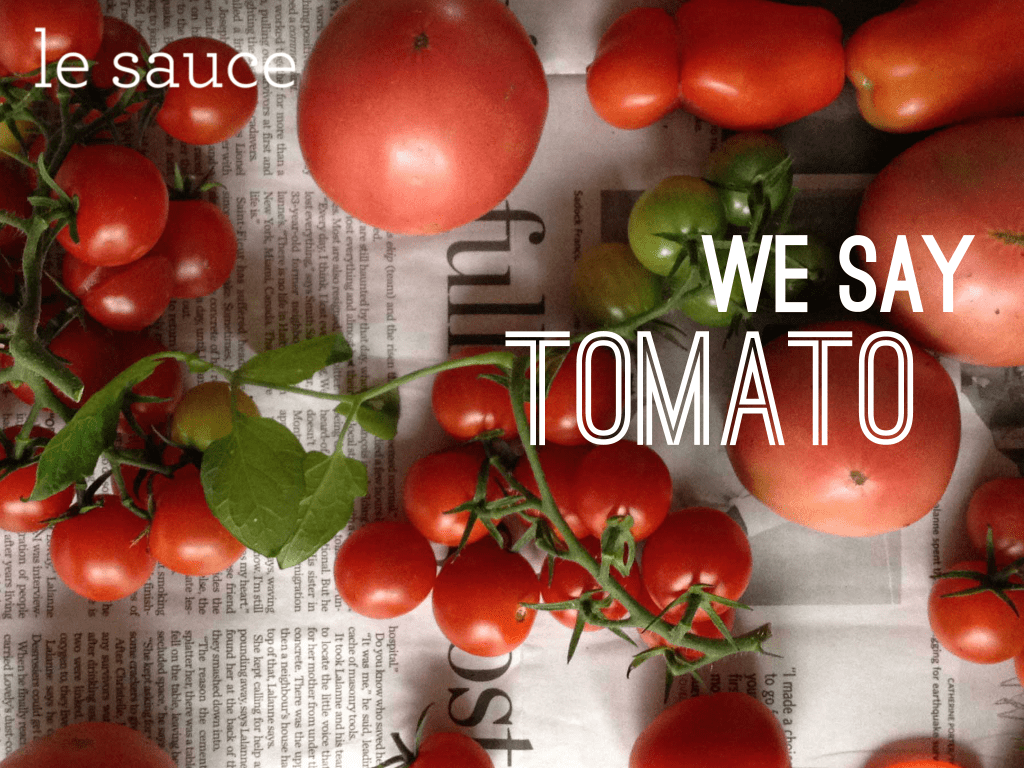 LS002 We Say Tomato