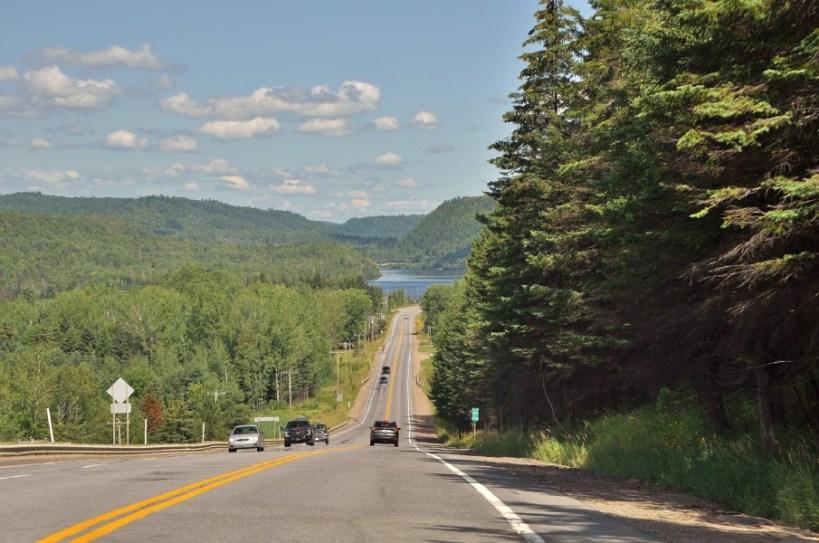 route vers le lac St Jean
