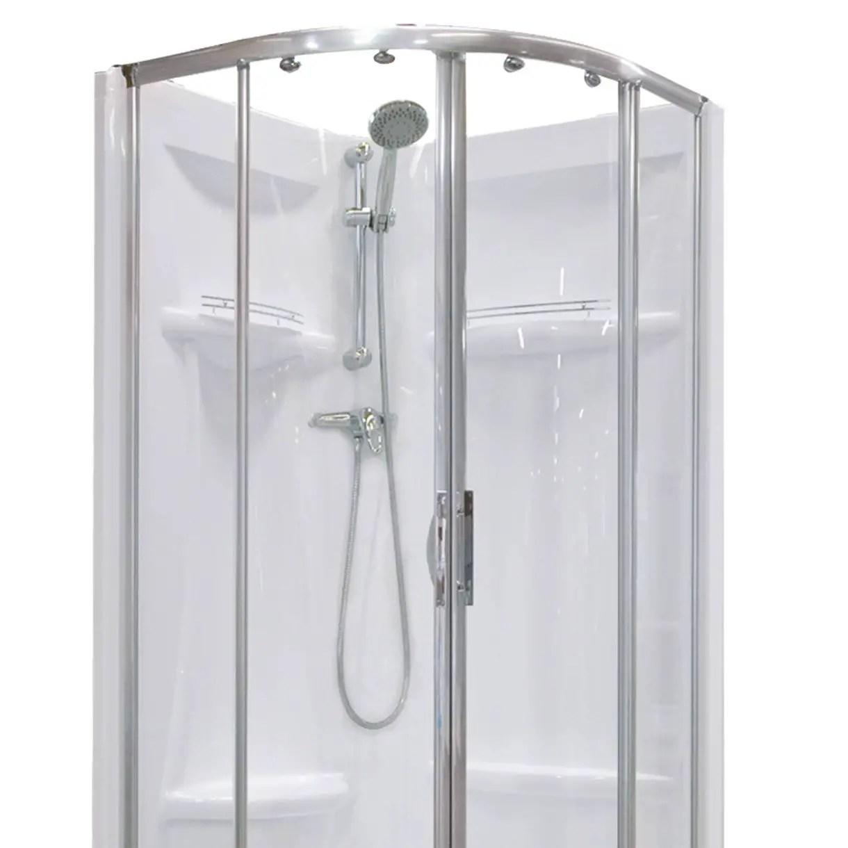 cabine de douche quart de cercle 80x80