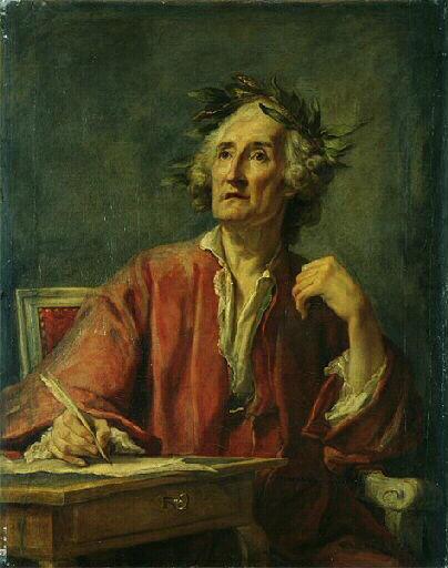 """La base Joconde le sous-titre comme """"considéré à tort comme le portrait de Rameau"""" - attribué successivement à Colson, Greuze, Restout"""