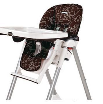 housse de chaise haute peg perego savana cacao