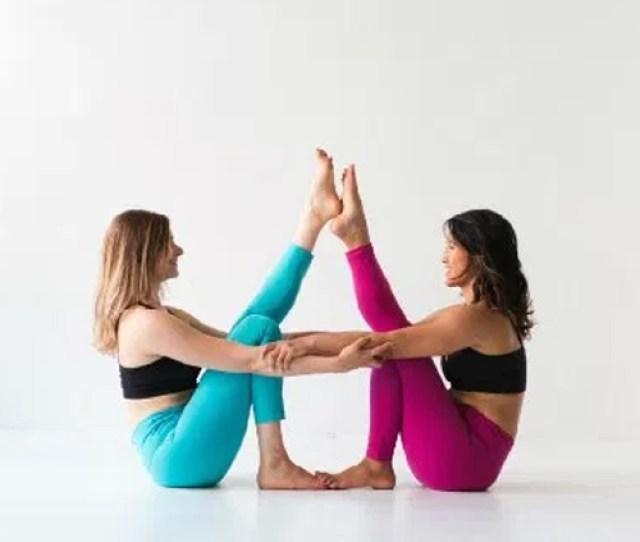 Yoga Exercises 3 Partner Boat Pose For Strength