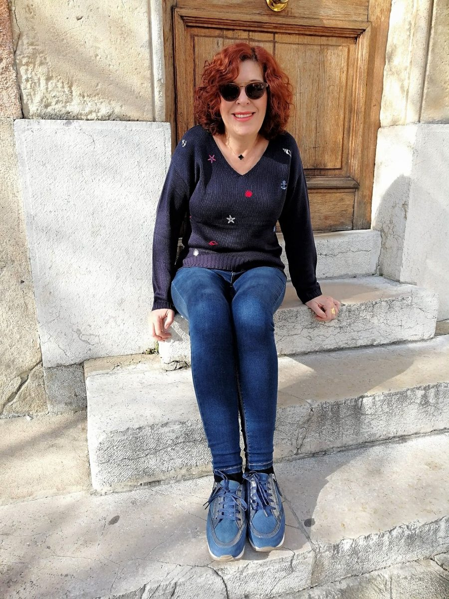bleu bonheur - mode -femme - printemps - été- quinqua - blogueuses