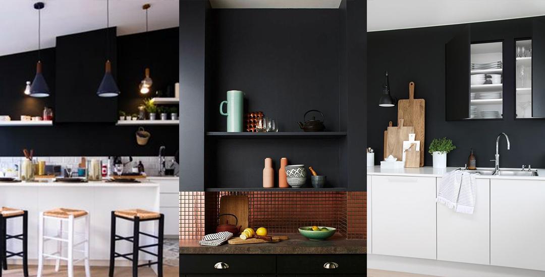Mur Noir Cuisine Trendy Amazing Cuisine Blanche Carrelage