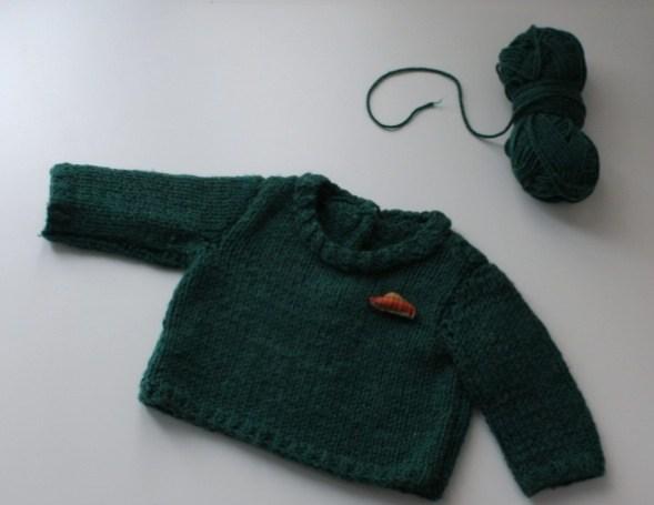 tricoter un pull pour bébé