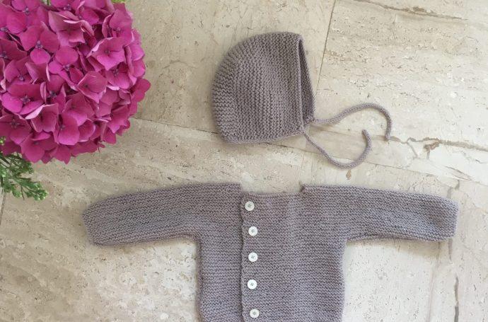 Béguin gilet tricot débutant
