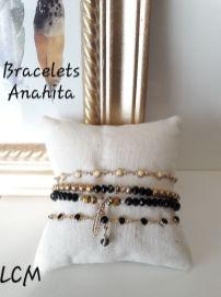 Bracelet perles et chaines Anahita