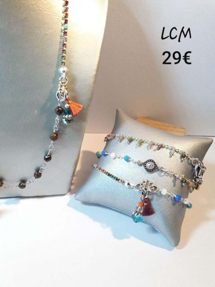 Bracelet triple ou collier