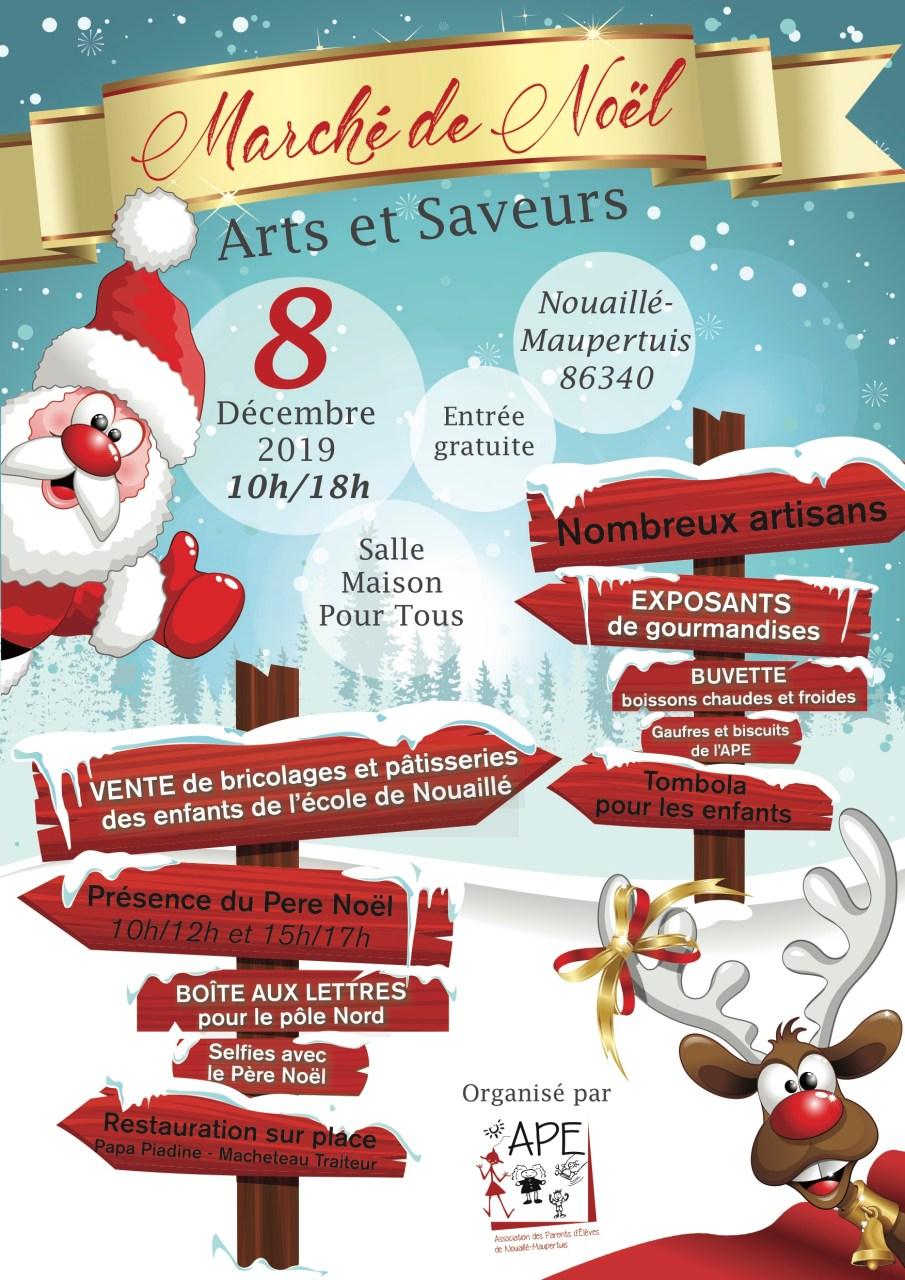 """Affiche Marché de Noël """"Arts et Saveurs"""""""