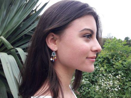 Collection Talisman boucles d'oreilles 3 perles