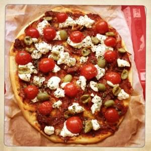 pizza savoureuse ricotta