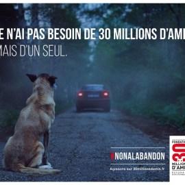 La nouvelle campagne choc de la Fondation 30 Millions d'Amis contre l'abandon