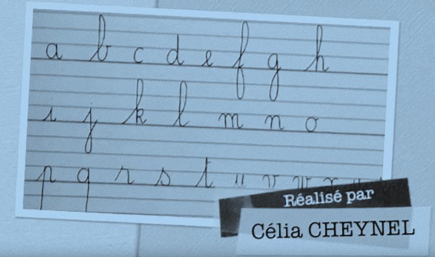 Tracés des lettres cursives