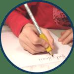 tenue de crayon avec manchon