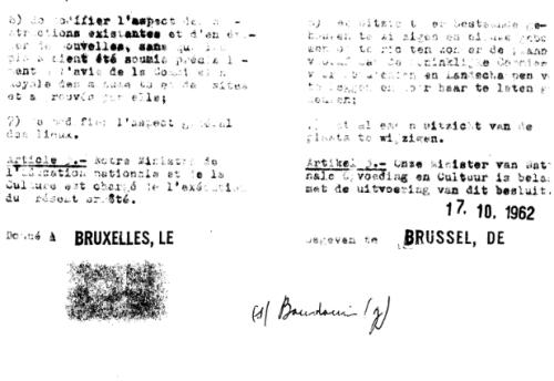 Le rocher d'Attre - AR de classement du 17-10-1962