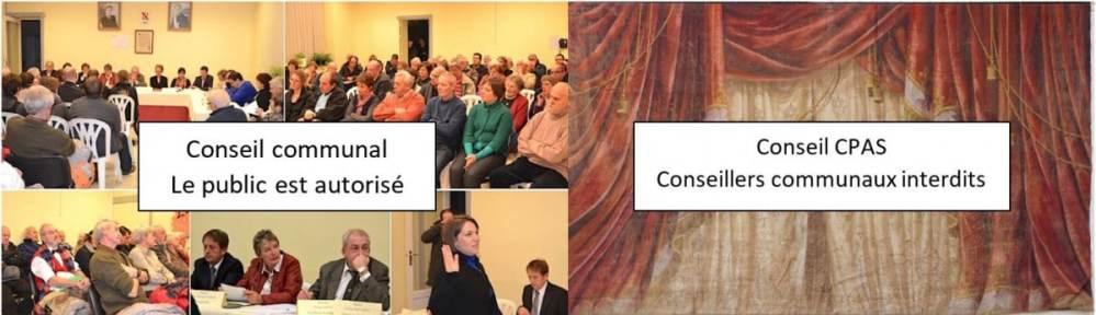 Conseil communal -Conseil du CPAS