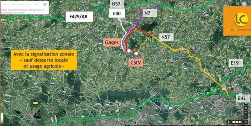 Cambron-St-Vincent - trafic dévié vers Gages