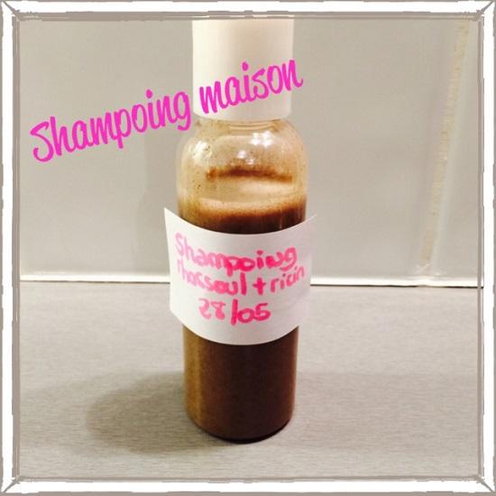shampoing rhassoul ricin maison
