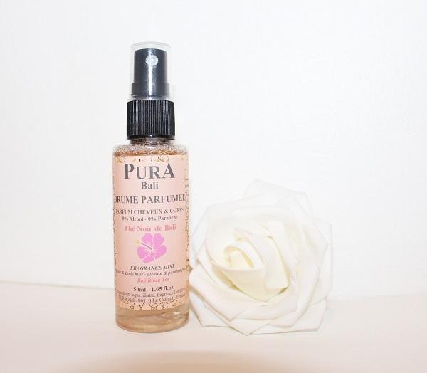 brume parfumee cheveux et corps Pura Bali