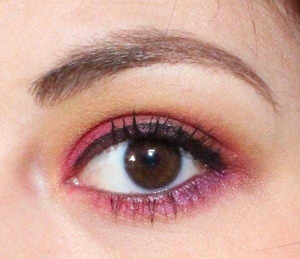 maquillage rose orange