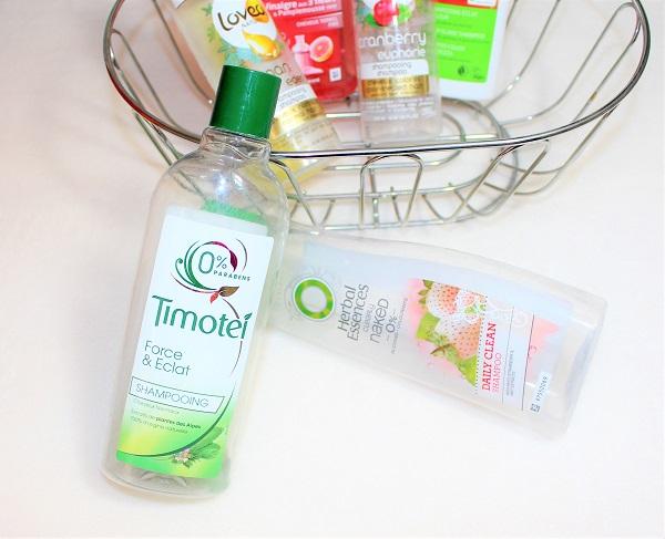 Timotei et Herbal Essences shampoings