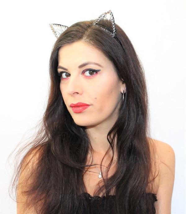 maquillage nouvel an oreille de chat