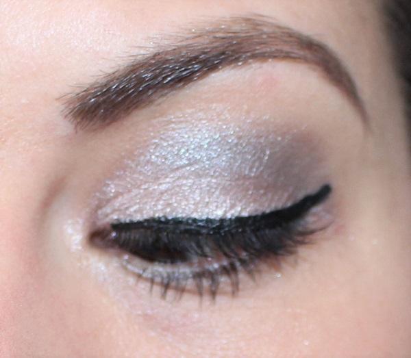 maquillage argente et rose pale msc