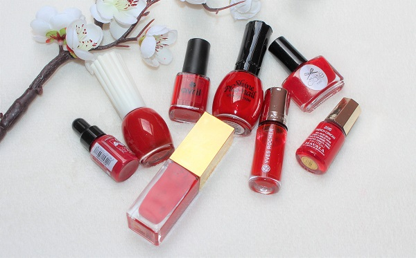 vernis a ongles rouges