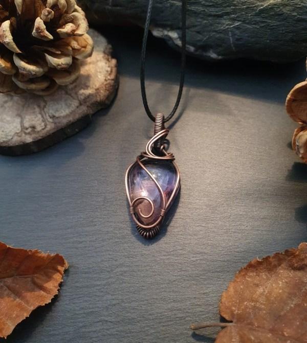 pendentif pierre amétrine