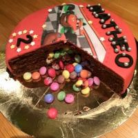 Pinata cake smarties